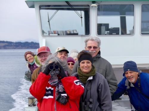 bird tride on ferryboat